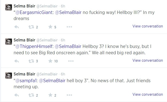 Selma Blair Tweets About Hellboy 3