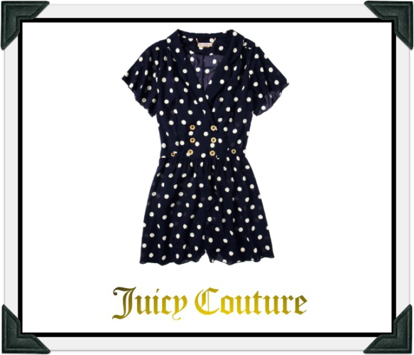 Juicy Couture Polkadot Romper as seen worn by Selma Blair July 15, 2014