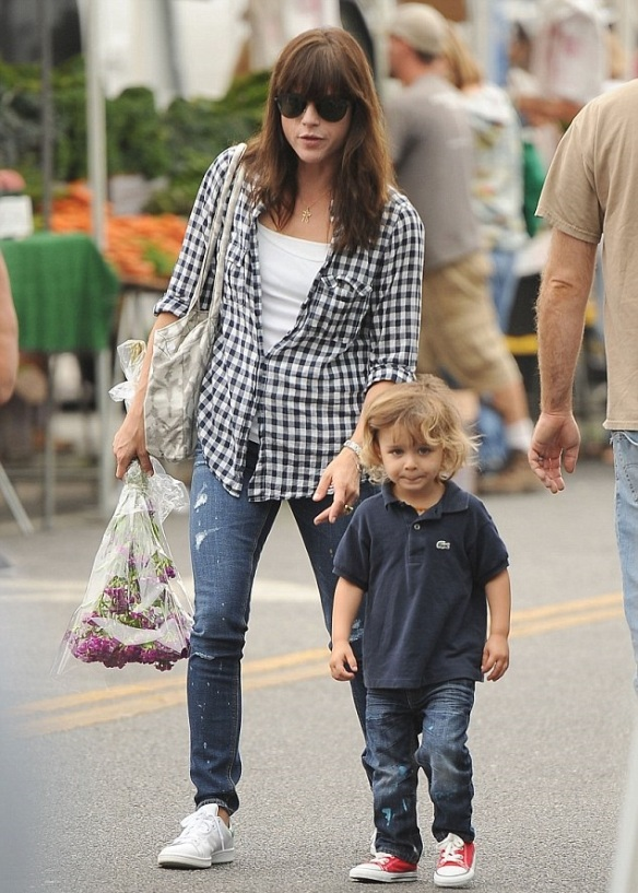 Selm Blair And Little Arthur Enjoy The Farmers Market 1