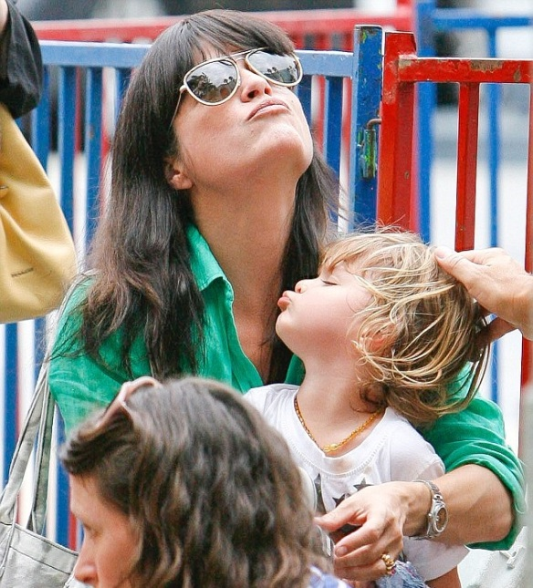 Selma Blair Spends The Day With Family At The Farmers Market 6