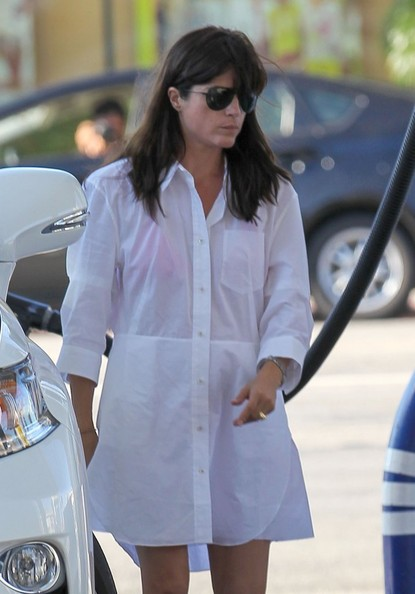 Selma Blair Wearing ACNE Dee Shirt Dress SelmaBlairStyle 2