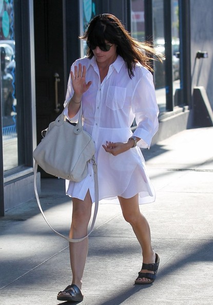 Selma Blair Wearing ACNE Dee Shirt Dress SelmaBlairStyle 4