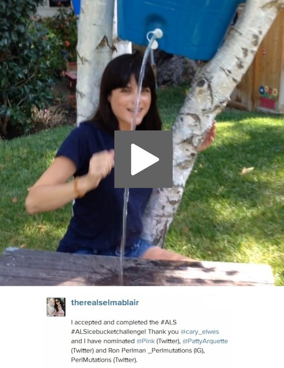 therealselmablair on instagram ALS Icebucketchallenge