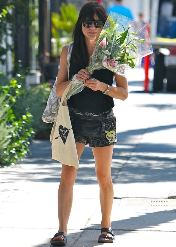 Selma Blair Farmers Market Flowers 1