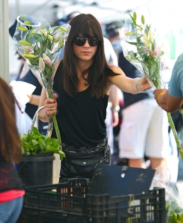 Selma Blair Farmers Market Flowers 2