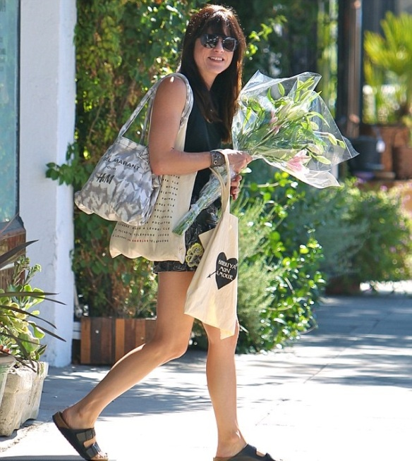 Selma Blair Farmers Market Flowers 3