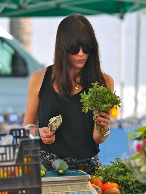 Selma Blair Farmers Market Flowers 5