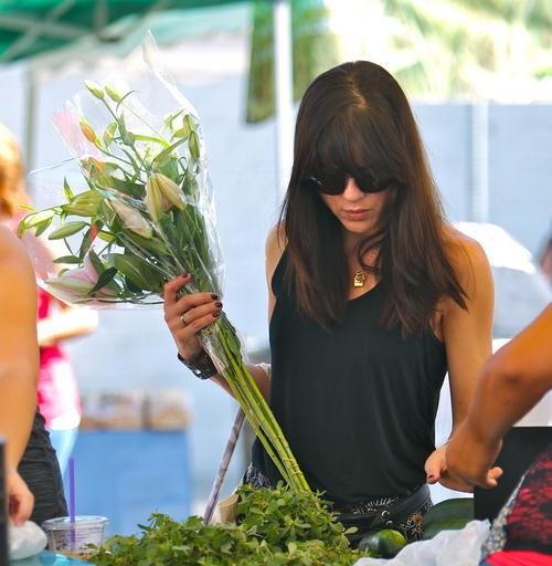 Selma Blair Farmers Market Flowers 7