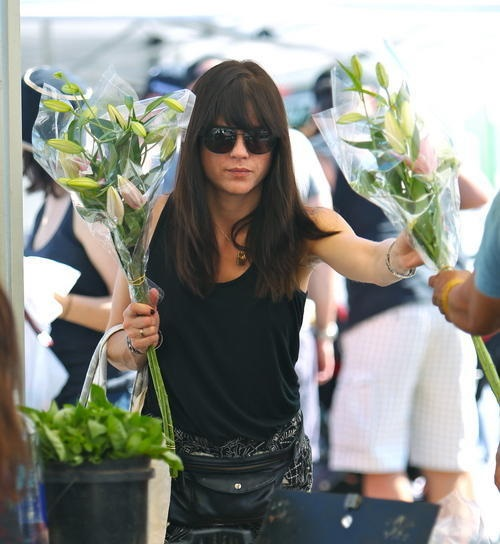 Selma Blair Farmers Market Flowers 8