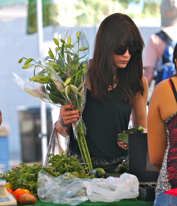 Selma Blair Farmers Market Flowers