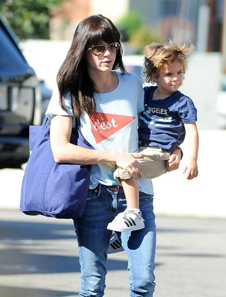 Selma Blair & Arthur Saint Arrive At Farmers Market 2