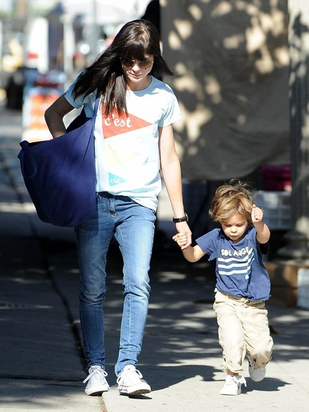 Selma Blair & Arthur Saint Arrive At Farmers Market 4