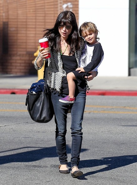 Selma Blair Running Errands With Son Arthur 5