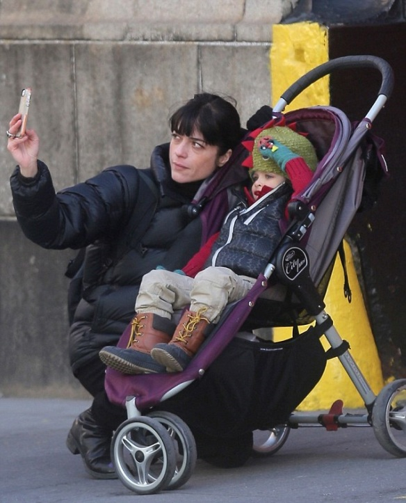 Selma Blair & Son Arthur In New York
