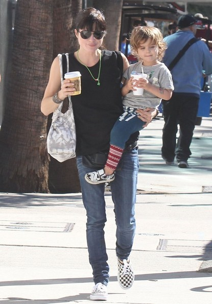 Selma Blair & Son Arthur Saint Blair-Bleick Farmers Market Tattoos Slides And Snowcones 1