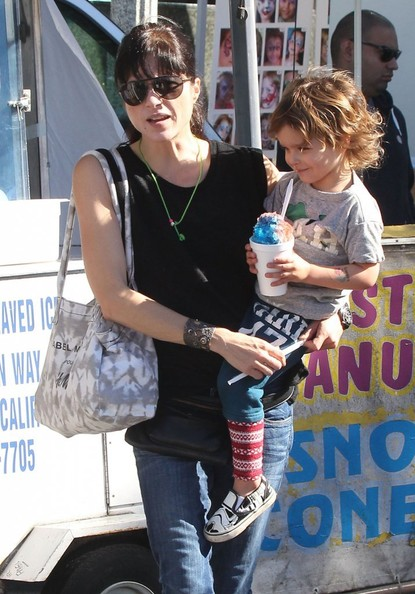 Selma Blair & Son Arthur Saint Blair-Bleick Farmers Market Tattoos Slides And Snowcones 4