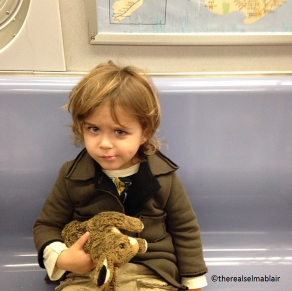 Selma Blair's Baby Takes The Morning Train