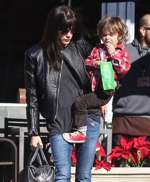 Selma Blair Grocery Run With Son Saint 4