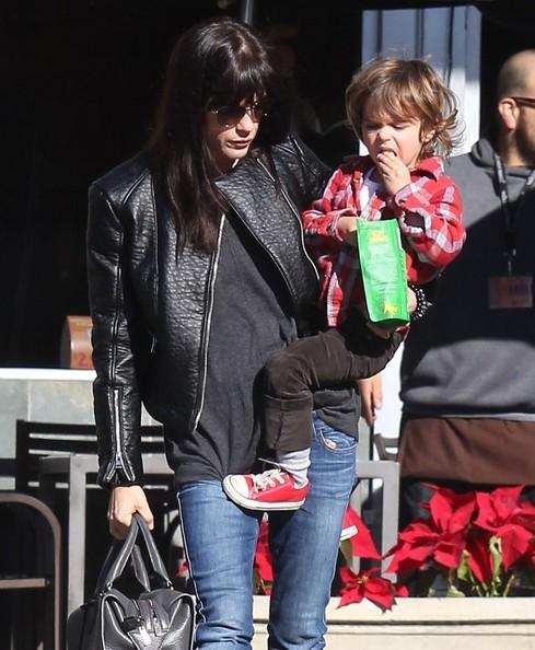 Selma Blair Grocery Run With Son Saint 4