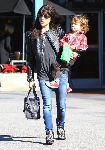 Selma Blair Grocery Run With Son Saint 8