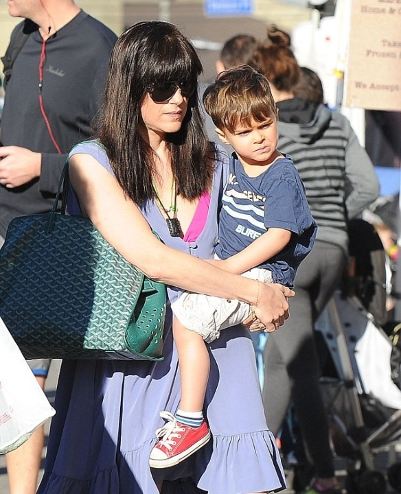 Selma Blair and Arthur Having Fun At Farmers Market 3