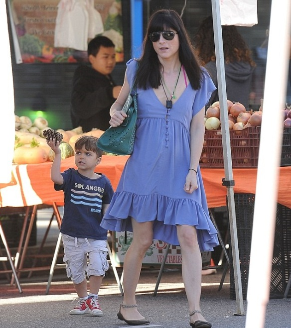 Selma Blair and Arthur Having Fun At Farmers Market 5