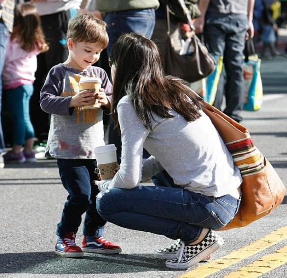 Selma Blair with son Arthur 1