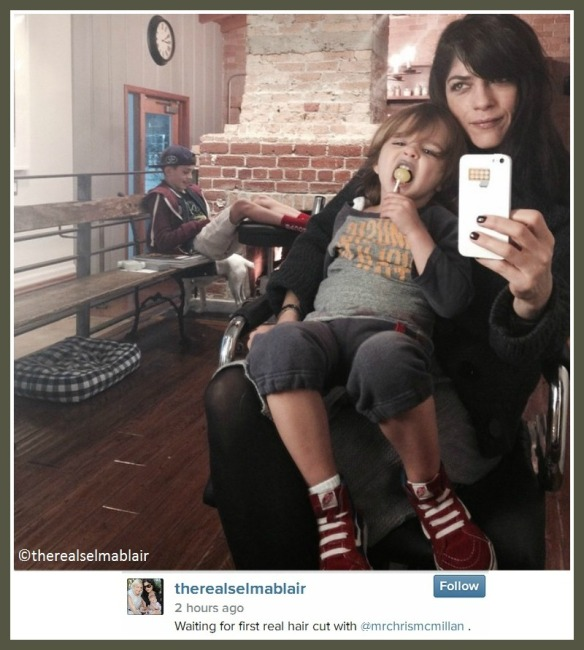Selma Blair's son Arthur gets first haircut 1
