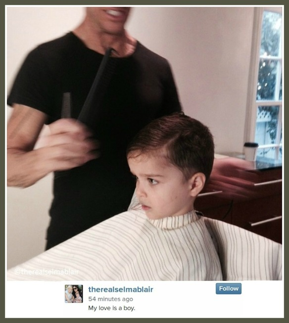 Selma Blair's son Arthur gets first haircut 2