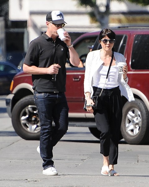 Selma Blair On A Coffee Run In Ancient Greek Sandals 1