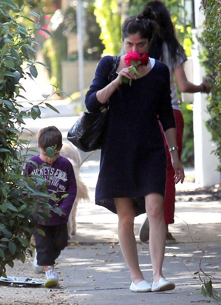 Selma Blair Stops To Smell The Roses 2