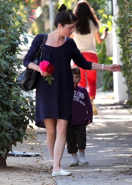 Selma Blair Stops To Smell The Roses 3