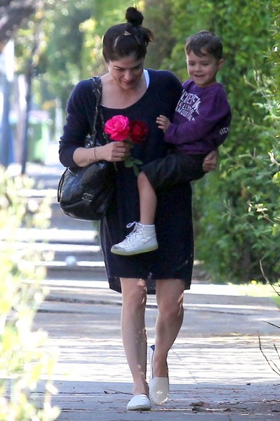 Selma Blair Stops To Smell The Roses 4