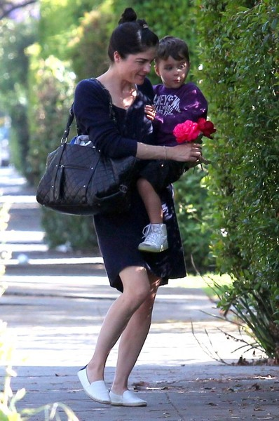 Selma Blair Stops To Smell The Roses 5