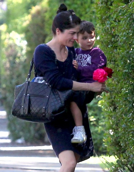 Selma Blair Stops To Smell The Roses 6