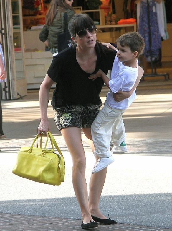 Selma Blair Shopping With Son Saint 3