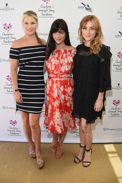 Selma Blair Ali Larter and Sasha Alexander pose for pics at the Cure Batten benefit in Brentwood