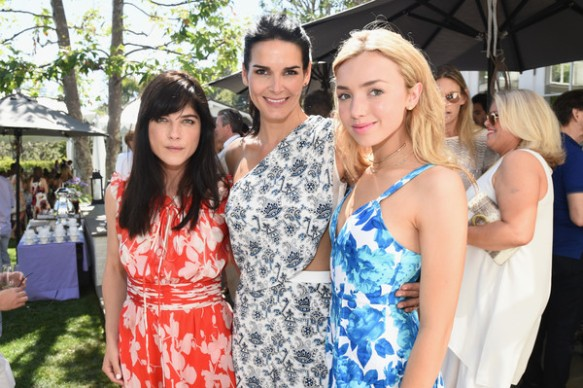 Selma Blair Angie Harmon and Peyton List at Cure Batten tea party