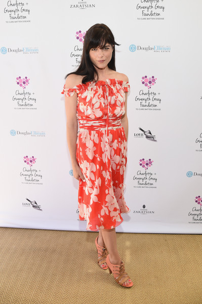 Selma Blair wears vintage Valentino to Cure Batten tea party 1
