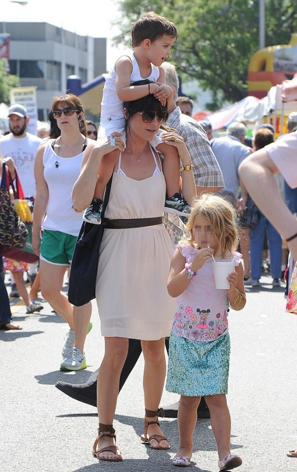 Selma Blair and her big cutie 1