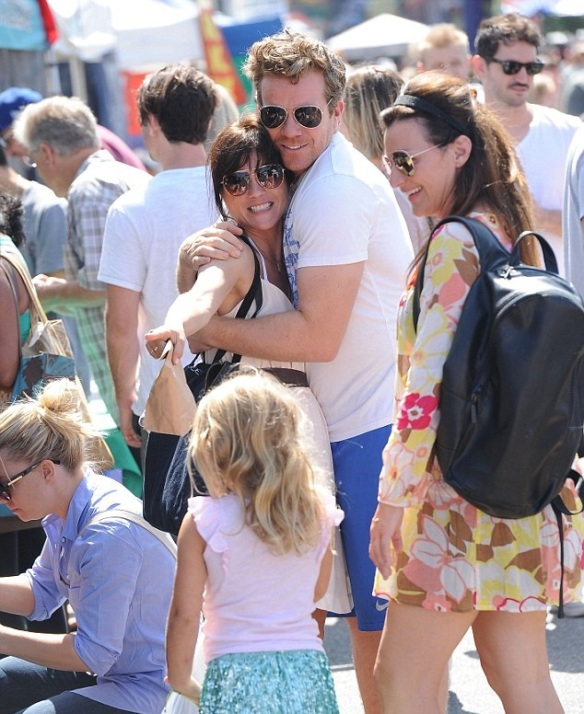 Selma Blair and her big cutie 2