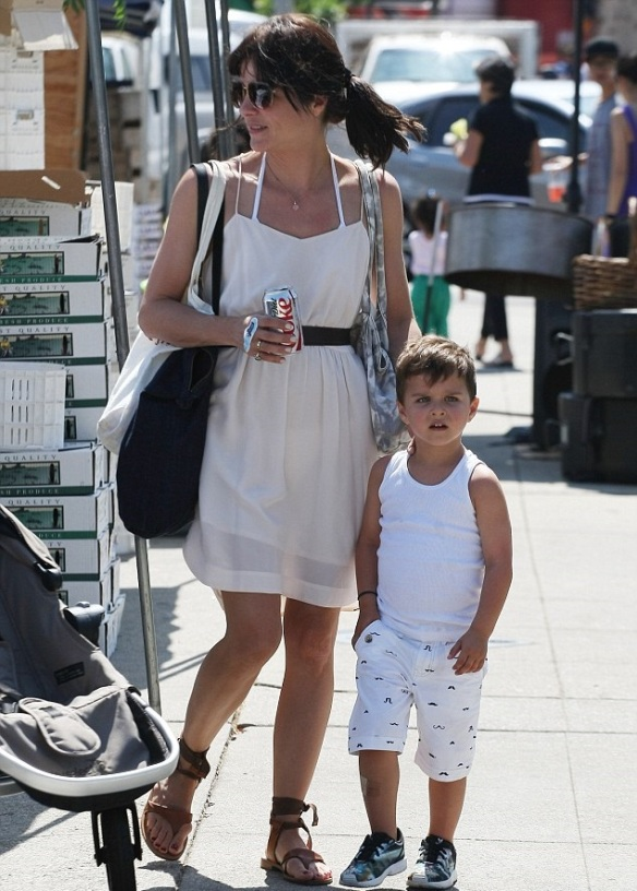 Selma Blair and her big cutie 6