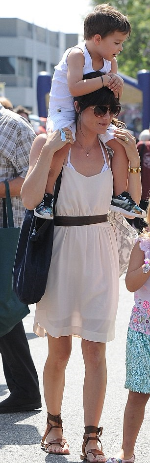 Selma Blair and her big cutie 7