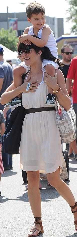 Selma Blair and her big cutie 8