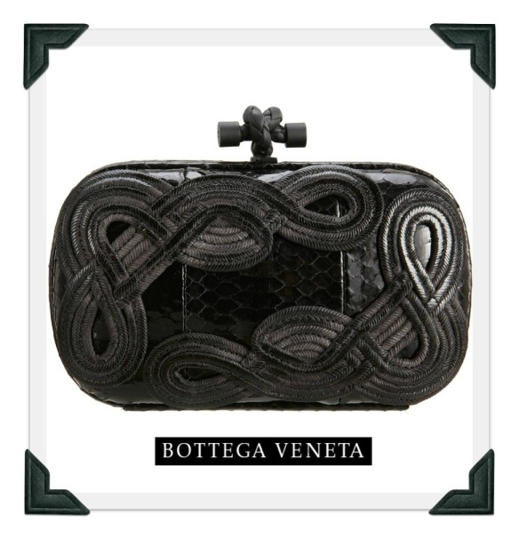 Bottega Veneta Knot Snakeskin Clutch