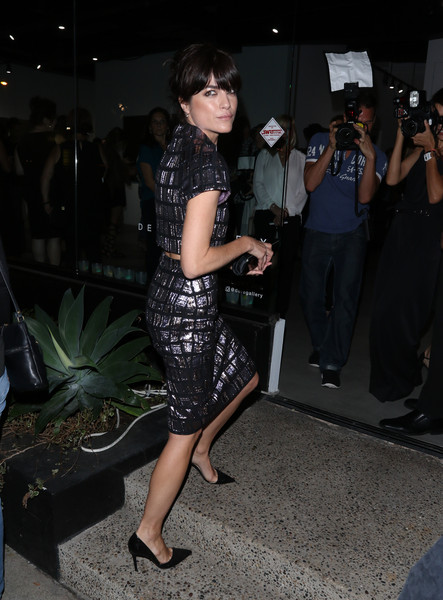 Selma Blair Arrives At Brian Bowen Smith's Metallic Life Exhibit 11