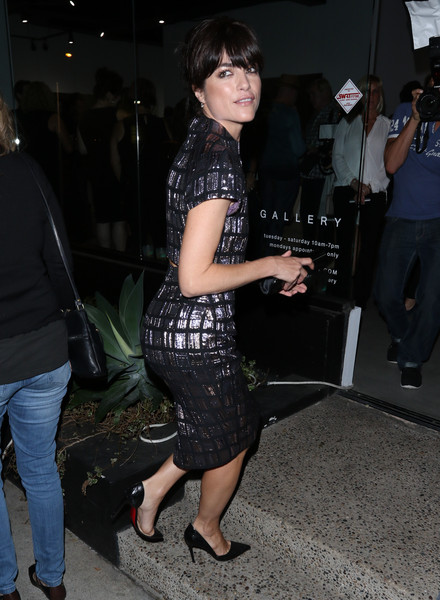 Selma Blair Arrives At Brian Bowen Smith's Metallic Life Exhibit 12