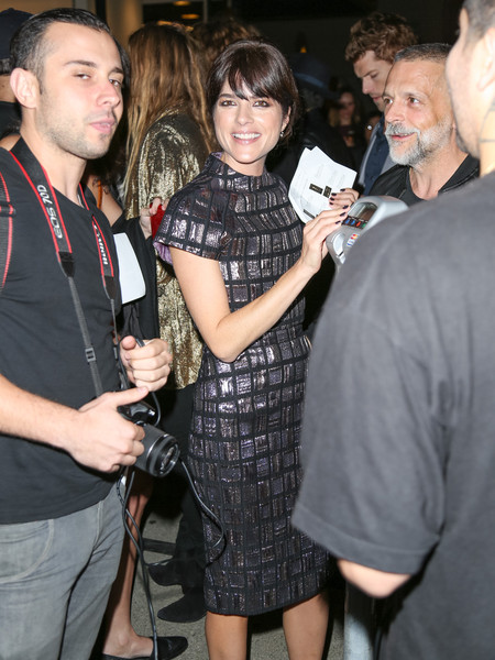 Selma Blair Arrives At Brian Bowen Smith's Metallic Life Exhibit 15