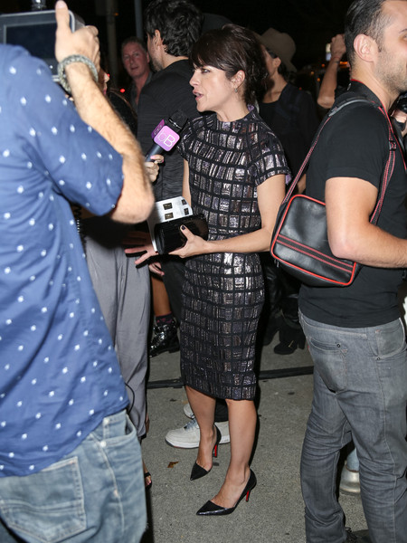 Selma Blair Arrives At Brian Bowen Smith's Metallic Life Exhibit 16