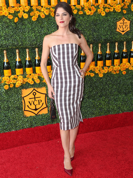 Selma Blair arrives at the Sixth-Annual Veuve Clicquot Polo Classic at Will Rogers State Historic Park. 3